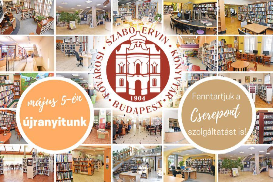 2021. május 5-én újranyit a Fővárosi Szabó Ervin Könyvtár